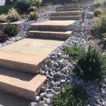 Heiby Wissembourg Haguenau Soultz sous forets - aménagements extérieurs pavage enrobé plantation paysagiste escalier gres indes