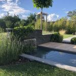 Heiby Wissembourg Haguenau Soultz sous forets - aménagements extérieurs pavage enrobé plantation paysagiste terrasse alsace store bois fontaine jardin paysage