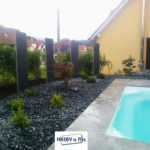Heiby Wissembourg Haguenau Soultz sous forets - aménagements extérieurs pavage enrobé piscine plantation paysagiste terrasse palissade