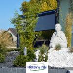 Heiby Wissembourg Haguenau Soultz sous forets - aménagements extérieurs pavage enrobé piscine plantation paysagiste escalier flottant
