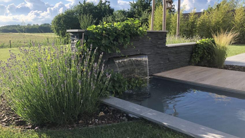terrasse grès ceram Heiby Wissembourg Haguenau Soultz sous forets - aménagements extérieurs pavage enrobé piscine plantation paysagiste escalier flottant